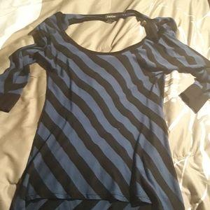 Bebe back drape top size small